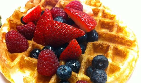 Buttermilk-Belgian-Waffle-with-Fresh-Berries